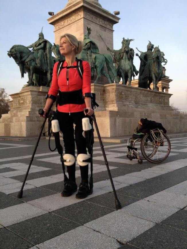 Ekso Bionics helps disabled patients walk again with an exoskeleton