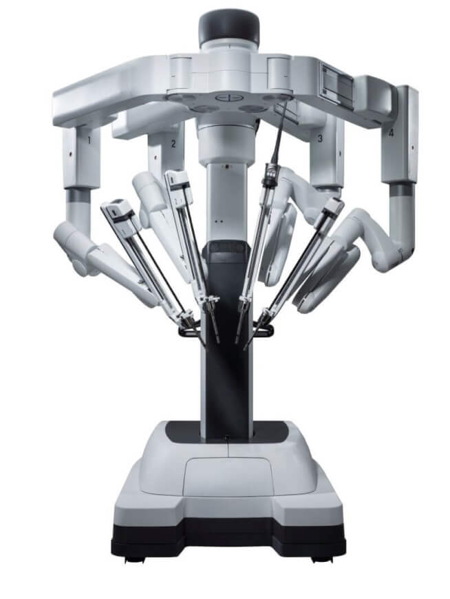 The daVinci surgical robot is the most sophisticated one on the market