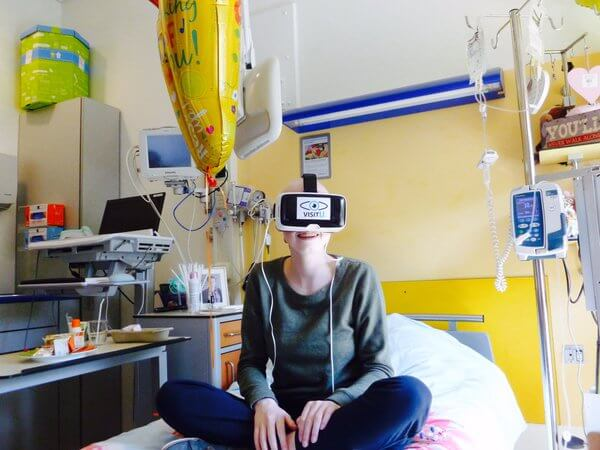 Virtual reality in the hospital lets patients experience being at home.