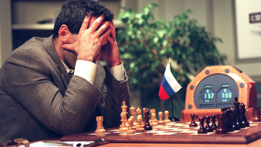 Garry Kasparov playing with IBM Deep Blue
