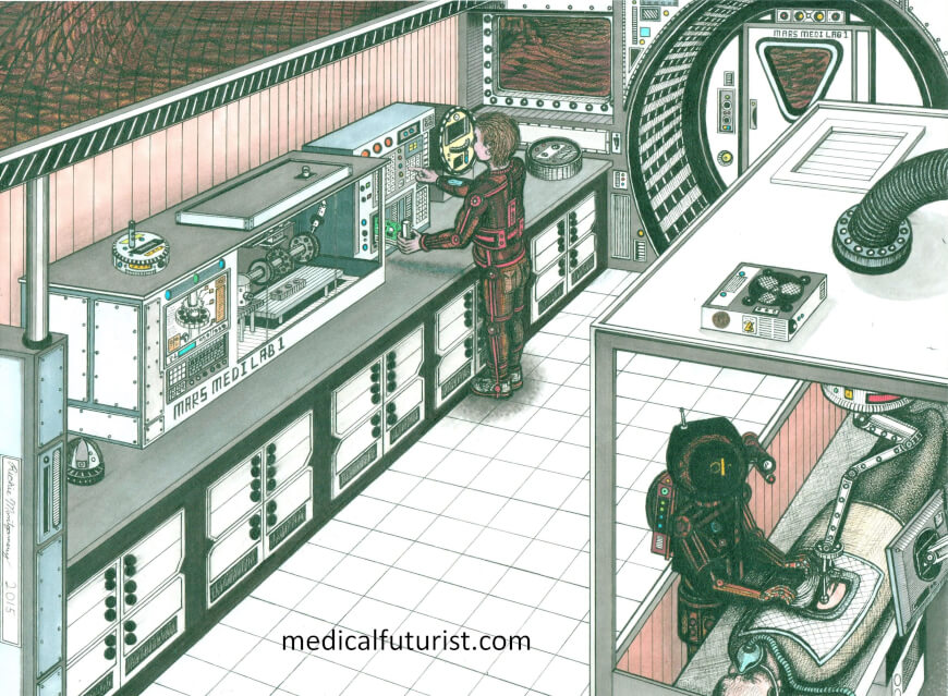 Health station on Mars