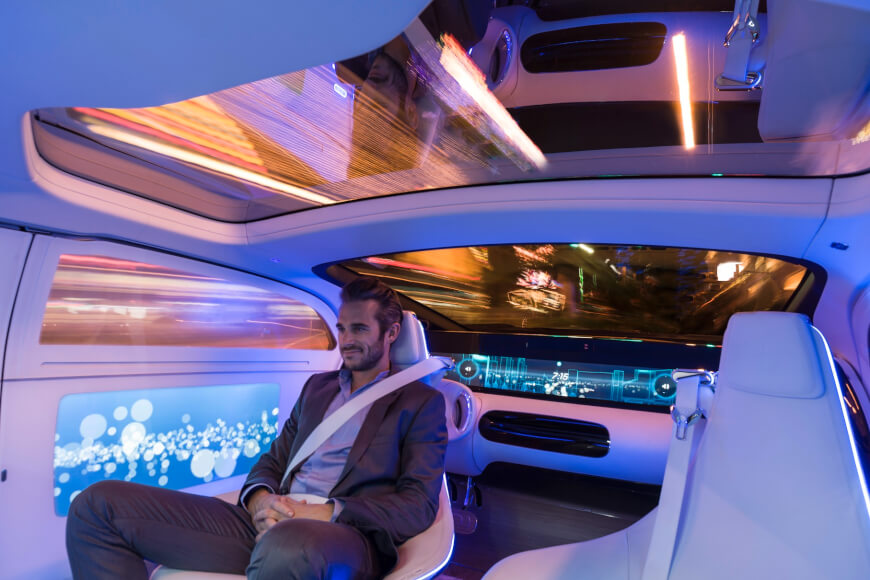 Mercedes - Future Car - Tech Companies in Healthcare