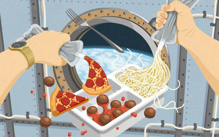 Food in Space - Digital Health Technologies for Space Travel
