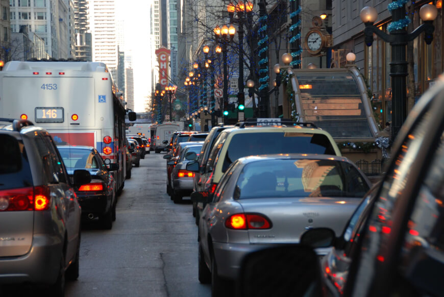 Traffic Jam - Technology Saves Time for a Healthier Life