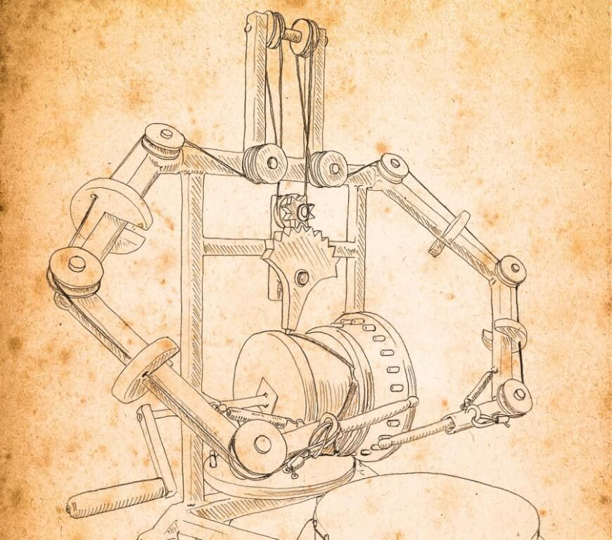 Robotic Drummer Designed By Leonardo Da Vinci At The Beginning Of The 1500s Source Www Waikatomuseum Co Nz