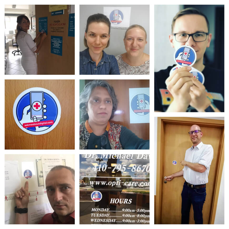 Medical Professionals Put The Ask Me About Digital Badge Into Action Worldwide